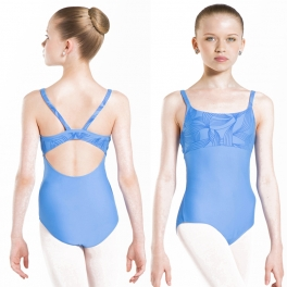 wear moi passion flocked microfibre cami leotard