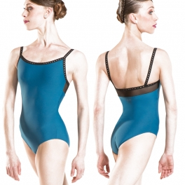 wear moi roma two tone camisole leotard