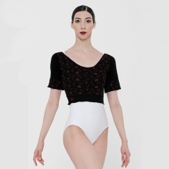 wear moi rosea embroidered flower cropped top