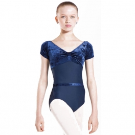 wear moi roxanne velour tank leotard
