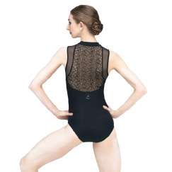 wear moi rumba velour flocked high neck leotard