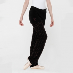 wear moi skada embroidered flower warm up pants