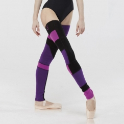 wear moi superbe patchwork knitted acrylic legwarmers