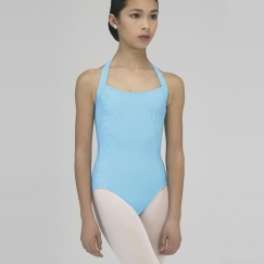 wear moi vicky embossed microfibre halter neck leotard