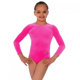 the zone smooth velour long sleeve leotard