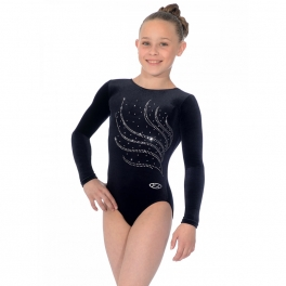 the zone tiara velour jewel motif leotard