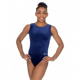 the zone smooth velour sleeveless leotard