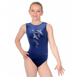 the zone spirit motif velour leotard