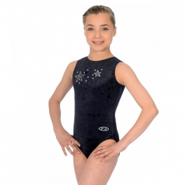 the zone stellar crushed velvet tank leotard