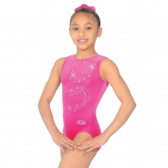 the zone twist sleeveless gymnastics leotard