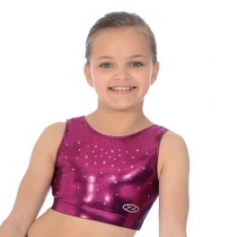 the zone chic super shiny gymnastics crop top