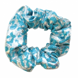the zone leopard hair scrunchie
