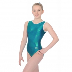the zone glam sleeveless gymnastics leotard