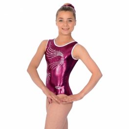 the zone orla crystal motif sleeveless leotard
