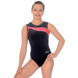the zone icon sleeveless gymnastics leotard
