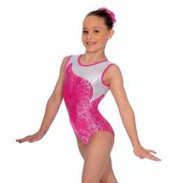 the zone sorbet sleeveless gymnastics leotard