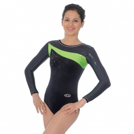 the zone icon long sleeve gymnastics leotard