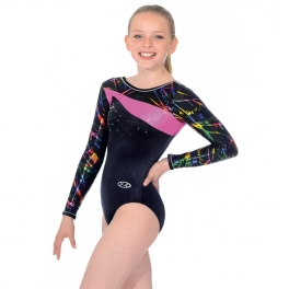 the zone macy long sleeve round neck leotard