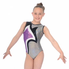 gymnastics leotard - the zone leotard - lily design round neck sleeveless leotard