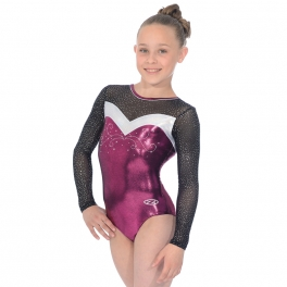 Gymnastics Leotards - the zone leotards - ultra round neck long sleeve leotard