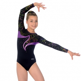Gymnastics leotards - the zone leotard - nocturne - long sleeve gymnastics leotard