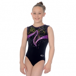 Gymnastics Leotards - the zone leotard - nocturne hologram sleeveless leotard