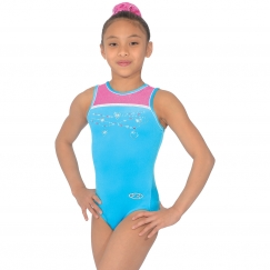 the zone charmed sleeveless jewel gymnastics leotard