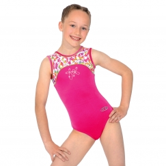 the zone tutti frutti round neck gymnastics leotard