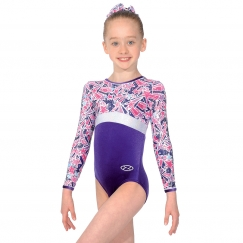 the zone halley long sleeve gymnastics leotard