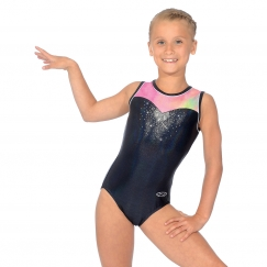 the zone opal sleeveless round neck gymnastics leotard
