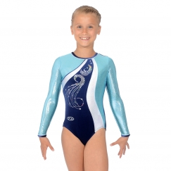 the zone glitz long sleeve gymnastics leotard