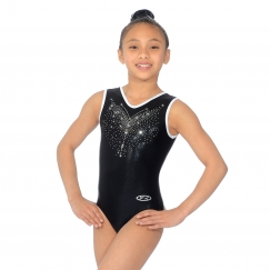 the zone flyte sleeveless v neck gymnastics leotard