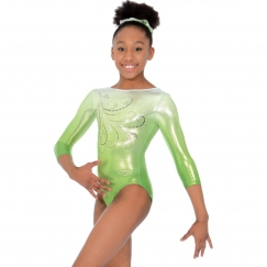 the zone enchanted 3/4 sleeve gymnastics leotard