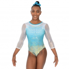 the zone aura 3/4 sleeve gymnastics leotard