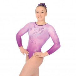 the zone mirage long sleeve gymnastics leotard