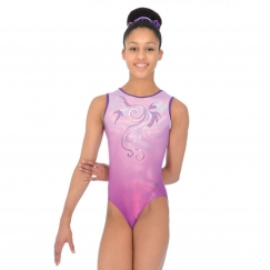 the zone mirage sleeveless gymnastics leotard