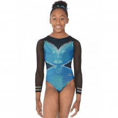 the zone ellee long sleeve gymnastics leotard