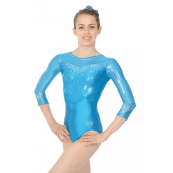 the zone nova 3/4 sleeve gymnastics leotard