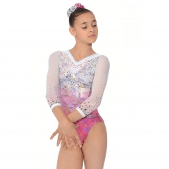 the zone delight 3/4 sleeve gymnastics leotard