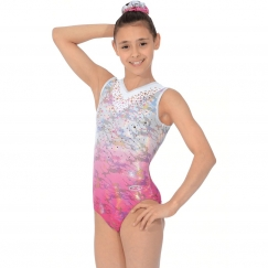 the zone delight sleeveless gymnastics leotard