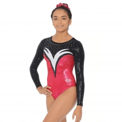 the zone athena long sleeve gymnastics leotard