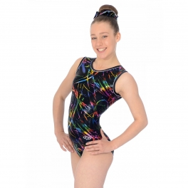 the zone macy sleeveless round neck leotard