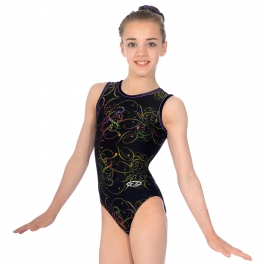 Gymnastics Leotards - the zone leotards - round neck sleeveless leotard