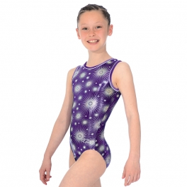 gymnastics leotards - the zone leotard - zodiac design sleeveless gymnastics leotard